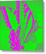 Butterfly Ode To Andy Warhol Metal Print