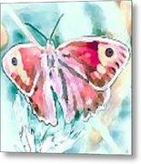 Butterfly On Flower 1 Metal Print