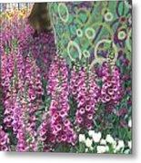Butterfly Park Flowers Painted Wall Las Vegas Metal Print