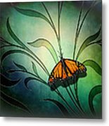 Butterfly Pause V1 Metal Print