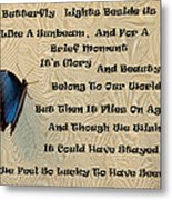 Butterfly Poem Metal Print