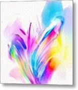 Butterfly Sound Abstract Metal Print