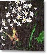 Butterfly Sprig Metal Print