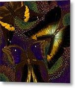Butterfly Worlds Metal Print