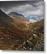 Buttermere Valley Autumn View Metal Print