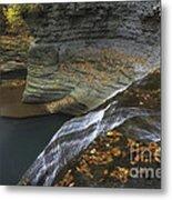 Buttermilk Falls In Autumn I Metal Print