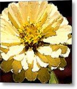 Buttermilk Yellow Metal Print