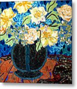 Button Up Vase Metal Print by Diane Fine