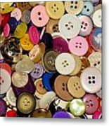 Buttons 671 Metal Print