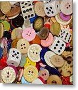 Buttons 676 Metal Print