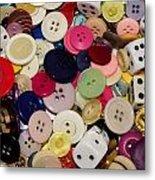 Buttons 678 Metal Print