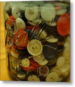 Buttons And Ball Metal Print