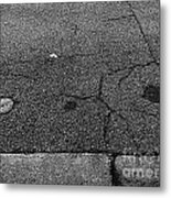 Buttons On The Concrete Metal Print