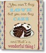 Buy Cake Typography Metal Print