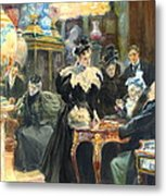 Buying Christmas Presents 1895 Metal Print by Padre Art