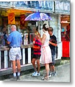 Buying Ice Cream At The Fair Metal Print