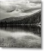 Bw Bear Lake Metal Print