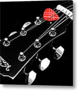 Bw Head Stock With Red Pick  Metal Print
