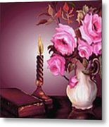 By Candle Light Metal Print
