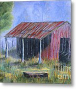 By The Barn Out Back Metal Print