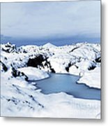 By The Blue Lagoon In Iceland Metal Print