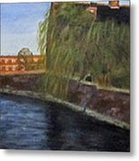 By The Canal - Leuven Belgium Metal Print