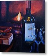 By The Fire Metal Print