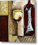 By The Fireside Original Madart Painting Metal Print