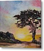 By The Golden Sea Metal Print