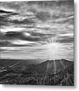 By The Light Of God Metal Print