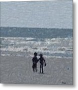 By The Ocean Metal Print