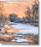 By The Old Mill Metal Print