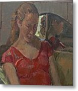 By The Old Mirror, 2009 Oil On Canvas Metal Print