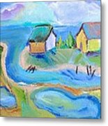 By The Sea Metal Print by Brenda Ruark