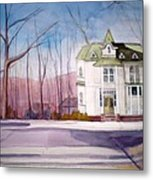 By The Water Tower Metal Print