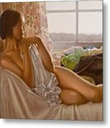 By The Window Metal Print by John Silver