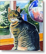 By The Window Metal Print