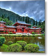 Byodo Temple Metal Print