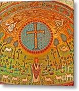 Byzantine Mosaic Metal Print