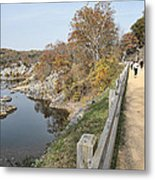 C And O Canal Above And Potomac River Below Metal Print