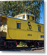 C And O Railroad Car Metal Print
