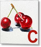 C Art Alphabet For Kids Room Metal Print