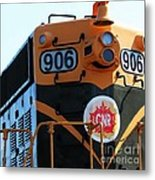 C N R Train 906 Rustic Metal Print