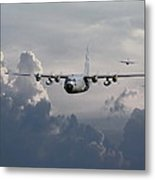 C130 Hecules    In Trail Metal Print