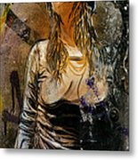 C215 Beautiful Model Metal Print
