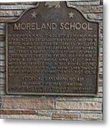 Ca-489 Moreland School Metal Print
