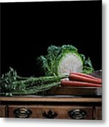 Cabbage And Carrots Metal Print