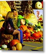 Cabbage Patch Kids - Giant Pumpkins - Marche Atwater Montreal Market Scene Art Carole Spandau Metal Print