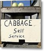 Cabbage Self Service Metal Print