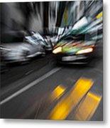 Cabbie Too Fast Metal Print